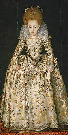 Princess Elizabeth, later Queen of Bohemia, 1606; her grandson inherited the English throne as George I.