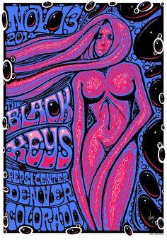 The Black Keys Denver Poster by Jeff Wood