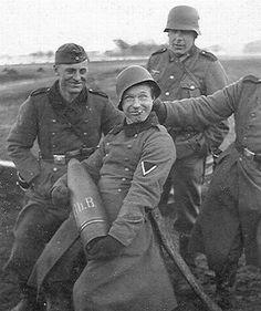 German soldiers having fun