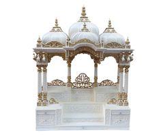 Wooden Temple For Home, Temple Design For Home, Temple Room, Home Temple, Mandir Decoration, Temple Drawing, Handmade Wood Furniture, Altar Design, Mandir Design