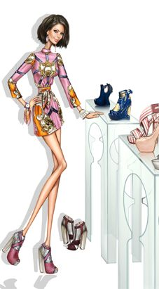 pergamino. Fashion illustration