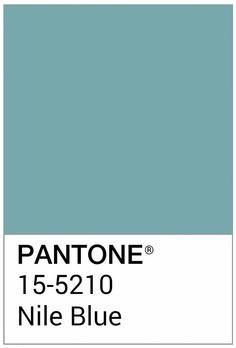 El @pantone #ColorOfTheDay de hoy  (de mis favoritos): NILE BLUE