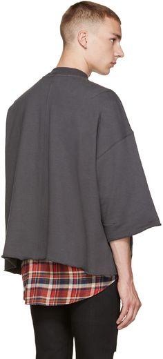 Fear of God: Grey Mock Neck Pullover | SSENSE