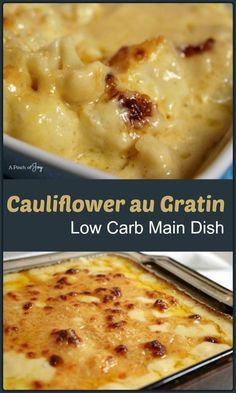 Cauliflower au Gratin — cheesy goodness as a main dish or a side dish. Cauliflower, Mark Twain once sniffed, was nothing but cabbage with a college education. Boiled and buttered, the way gr…