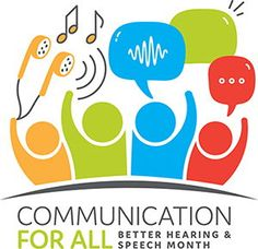 """The 2018 theme for may is Better Hearing and Speech Month is """"Communication for All."""" ASHA many resources to help you celebrate all month long. Check out the items that address Communication Milestones and Early Identification of Disorders. Speech Therapy Quotes, Speech Pathology, Speech Language Pathology, Speech And Language, Speech And Hearing, Hearing Aids, My Future Career, Fun Fact Friday, Inspirational Speeches"""