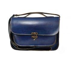 Bleu ipad cuir besace sac cabas sac pour les hommes par ammaciyo, $95.00