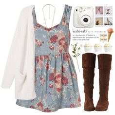 Blank space by astoriachung on Polyvore featuring Monki, Forever 21, OKA and Polaroid