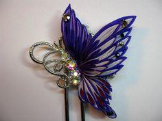 イメージ 1 Ribbon Jewelry, Ribbon Art, Ribbon Crafts, Ribbon Bows, Flower Crafts, Fabric Brooch, Fabric Bows, Fabric Flowers, Kanzashi Tutorial