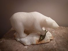 Neat alabaster and soapstone carving
