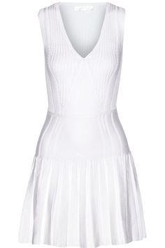 Cushnie et OchsPleated stretch-knit mini dress