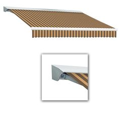 Beauty-Mark 10 ft. Destin with Hood AT Model Left Motor Retractable Awning (10 ft. W x 8 ft. D) in