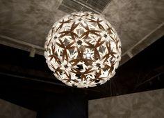 David Trubridge's Gorgeous New Manuka Lamp Casts Shadows Shaped Like Flowers