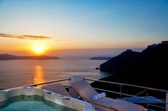 A heavenly landscape, one with outstanding volcanic views. Capture a taste of Greece in this villa: Santorini 9