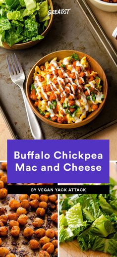 1. Buffalo Chickpea Mac and Cheese #healthy #cheese #comfortfood https://greatist.com/health/best-healthy-mac-and-cheese-recipes-101413