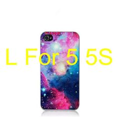 Bright Colorful Cloud Sky Outer Space Universe Triangle Hard Plastic Phone Fitted Case Cover For iPhone 5 5s SE Capa Funda EC003