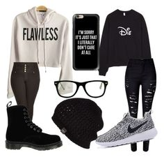 """Current mood "" by eliseisnotlit on Polyvore featuring City Chic, WithChic, Dr. Martens, Casetify, Muse and UGG Australia"
