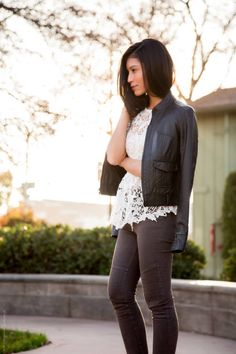 Mixing Styles – Lace And Leather by Stylishly Me