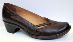 Clarks Artisan 'Metti' Brown Leather Pump Size 6.5M #ClarksArtisan #PumpsClassics