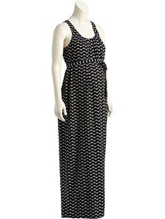 Maternity Printed Maxi Tank Dress