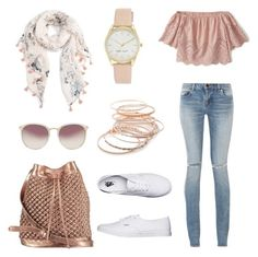 """Subtle pink"" by ujj-yadav on Polyvore featuring Caslon, Yves Saint Laurent, Abercrombie & Fitch, nooki design, Vans, Red Camel, Nine West and Linda Farrow"