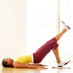 HEEL SLIDES...THIS MOVE IS A GREAT WAY TO WORK YOUR LOWER BODY AND CLEAN THE FLOOR! | health.com