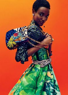 Henrieth Paul wearing Marc Jacobs Resort '17 belt and bag. Shot by Billy Kidd, styled by Vanessa Chow for Glamour US