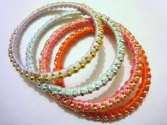 DIY Jewelry: DIY Bracelet How to Make Stackable Bracelet EASY In Less Than 10 Mins!