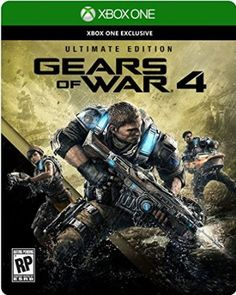 Gears of War 4 Ultimate Edition Steelbook w/Season Pass + Bonus (Xbox One) NEW Playstation, Xbox 1, Xbox One S, Xbox Live, Gears Of War, Microsoft, Wii, Xbox One Exclusives, Video Game Heaven
