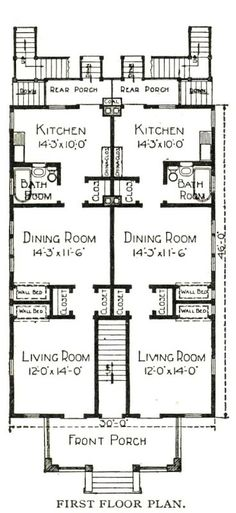 1000 images about houses by sears on pinterest kit for Modern 4 plex plans