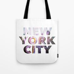 New York City Tote Bag by g-man G Man, New York City, Typography, Reusable Tote Bags, Stuff To Buy, Bags, Letterpress, New York, Letterpress Printing