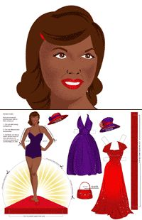 The Red Hat Society - Printable Paper Dolls