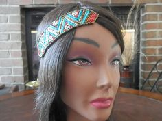 Bohemian Floral Beaded headband boho beaded hair band by myfashioncreations, $26.00