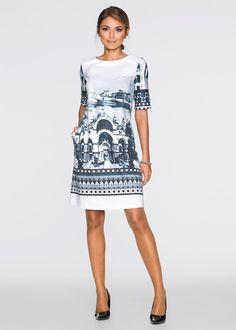 Commandez maintenant Robe blanc/gris/noir imprimé - BODYFLIRT à partir de 29,99 ? sur bonprix.fr. L'imprimé très original all-over donne à cette robe un ...