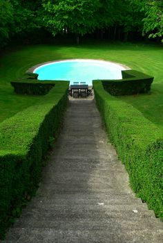 Simple, but unique pool setting.