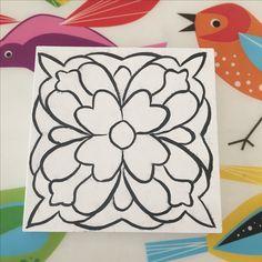 #çini #çinikaro #karo Art Projects, Pottery, Tableware, Model, Flowers, Summer, Rome, Mandalas, Patterns