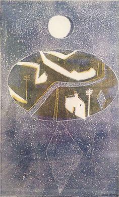 'Island' by Charles Shearer (stencil print) Stencil Printing, Royal College Of Art, Etchings, Art School, Painting & Drawing, Printmaking, Islands, Stencils, British