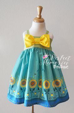Anna Princess Dress Frozen Fever Dress Anna Frozen by ThePMB