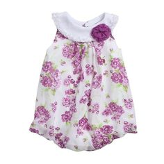 Baby Essentials Newborn Infant Girl Floral Print Creeper Dress: Shopko