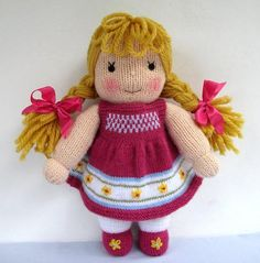 Jasmine and Violet - Knitted Dolls Knitting pattern by Dollytime ...