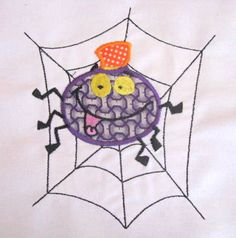 NEW AT KC DEZIGNS Halloween Spider Machine Applique Embroidery Design by KCDezigns, $3.50