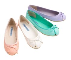pastel ballet flats