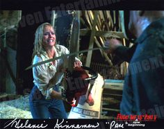 """Melanie Kinnaman Hand Signed 8x10 Photo Friday the 13th Part 5: A New Beginning - """"Fencing with Jason"""""""