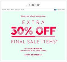 JCrew email @Jenille Reese Boston: