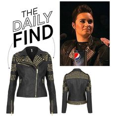 """The Daily Find: Topshop Studded Leather Jacket"" by polyvore-editorial ❤ liked on Polyvore"
