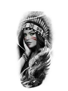 Half Sleeve Tattoos Drawings, Tattoo Design Drawings, Best Sleeve Tattoos, Mini Tattoos, Body Art Tattoos, Tattoo Designs, Indian Girl Tattoos, Indian Tattoo Design, Native American Tattoos