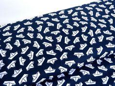 Stoff Elefanten - Baumwoll Popeline Schiffe Little Darling 10104 - ein Designerstück von Stoffknoch bei DaWanda