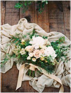 Stunning bridal bouquet full of greens.