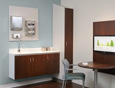 Medical office cabinet / wall-mounted - Folio - Nurture
