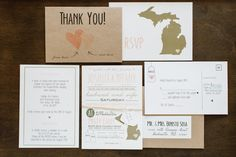SAMPLE modern rustic wedding invitation suite by LittleMissMrs, $5.00