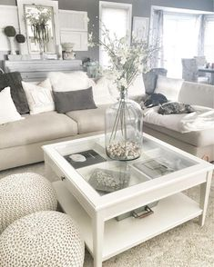 I want these little knit bean bag seats - - Kimberly - Living Room Table Living Room Decor Cozy, Living Room Grey, Home Living Room, Interior Design Living Room, Living Room Designs, Living Spaces, Interior Livingroom, Liatorp, Living Room Inspiration
